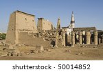 """The antique temple of """"Luxor"""" in Egypt - stock photo"""