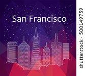 san francisco for banner ... | Shutterstock .eps vector #500149759
