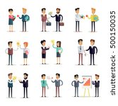 set of business concepts vector ... | Shutterstock .eps vector #500150035