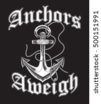 hand drawn old anchor in... | Shutterstock .eps vector #500151991
