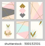 a set of six abstract geometric ... | Shutterstock .eps vector #500152531