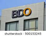 cebu  ph   oct. 11  bdo facade... | Shutterstock . vector #500153245
