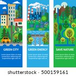 city map with navigation icons. ... | Shutterstock .eps vector #500159161