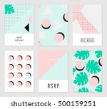 a set of six abstract geometric ... | Shutterstock .eps vector #500159251