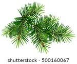 green christmas pine tree... | Shutterstock .eps vector #500160067