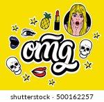 vector trendy sticker set....   Shutterstock .eps vector #500162257