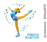 winter sports   ladies figure... | Shutterstock .eps vector #500163079