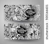 cartoon cute line art vector... | Shutterstock .eps vector #500166601