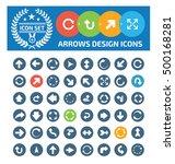 arrow sign icon set vector | Shutterstock .eps vector #500168281