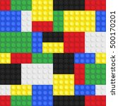 plastic toy building blocks...   Shutterstock .eps vector #500170201