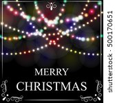 christmas  new year card.... | Shutterstock . vector #500170651