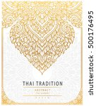 thai art element traditional... | Shutterstock .eps vector #500176495