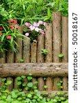 Wood Fence In Garden