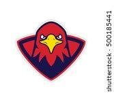 eagle  hawk  bird sport logo | Shutterstock .eps vector #500185441
