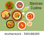 mexican cuisine tortilla with... | Shutterstock .eps vector #500188285