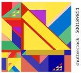 trendy geometric elements... | Shutterstock .eps vector #500189851