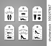 set icons items for shoe care.... | Shutterstock .eps vector #500197867