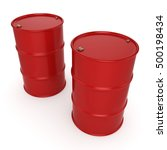 3d rendering red barrels not... | Shutterstock . vector #500198434