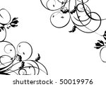 black flowers decoration with... | Shutterstock . vector #50019976