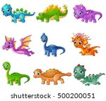 illustration of set of cartoon ... | Shutterstock . vector #500200051