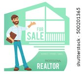 concept of real estate services.... | Shutterstock .eps vector #500201365