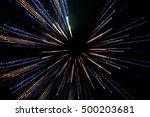 abstract long exposure  speed... | Shutterstock . vector #500203681