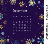 calendar template by month | Shutterstock .eps vector #500205415