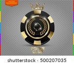 vip poker black and golden chip ... | Shutterstock .eps vector #500207035