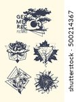set of  tattoo art. geometric... | Shutterstock .eps vector #500214367