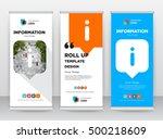 orange information blue... | Shutterstock .eps vector #500218609
