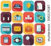 flat icons design modern vector ... | Shutterstock .eps vector #500219287