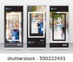 black gray frame abstract... | Shutterstock .eps vector #500222431
