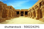 ancient ruins of karnak temple... | Shutterstock . vector #500224291