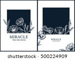 floral botanical backgrounds... | Shutterstock .eps vector #500224909