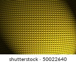 3D embossed gold background with a beacon of light - stock photo