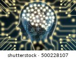 machine learning and artificial ... | Shutterstock . vector #500228107