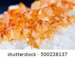 single shot of citrine stone...   Shutterstock . vector #500228137