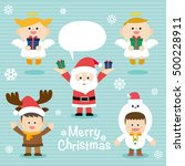 illustration of cute kids... | Shutterstock .eps vector #500228911