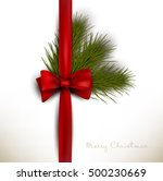 holiday background with red bow ... | Shutterstock .eps vector #500230669