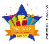 vector illustration. big sale... | Shutterstock .eps vector #500230729