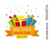 vector illustration. big sale... | Shutterstock .eps vector #500230741