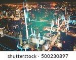 close up of finance business...   Shutterstock . vector #500230897