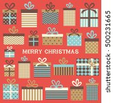 merry christmas greeting card... | Shutterstock .eps vector #500231665