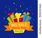 vector illustration. big sale... | Shutterstock .eps vector #500232364