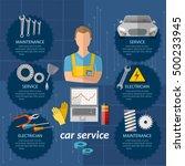 car service infographics... | Shutterstock .eps vector #500233945