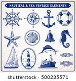 set of fourteen vintage vector... | Shutterstock .eps vector #500235571