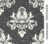 vector damask seamless pattern... | Shutterstock .eps vector #500236444