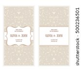 vector invitation  cards or... | Shutterstock .eps vector #500236501