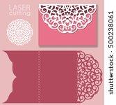 laser cut wedding invitation... | Shutterstock .eps vector #500238061