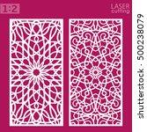 ornamental panels template for... | Shutterstock .eps vector #500238079